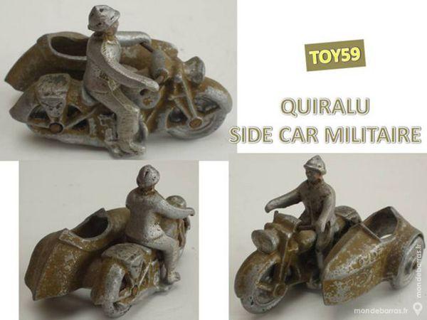 QUIRALU Rare jouet SIDE-CAR MILITAIRE 80 Mons-en-Barœul (59)