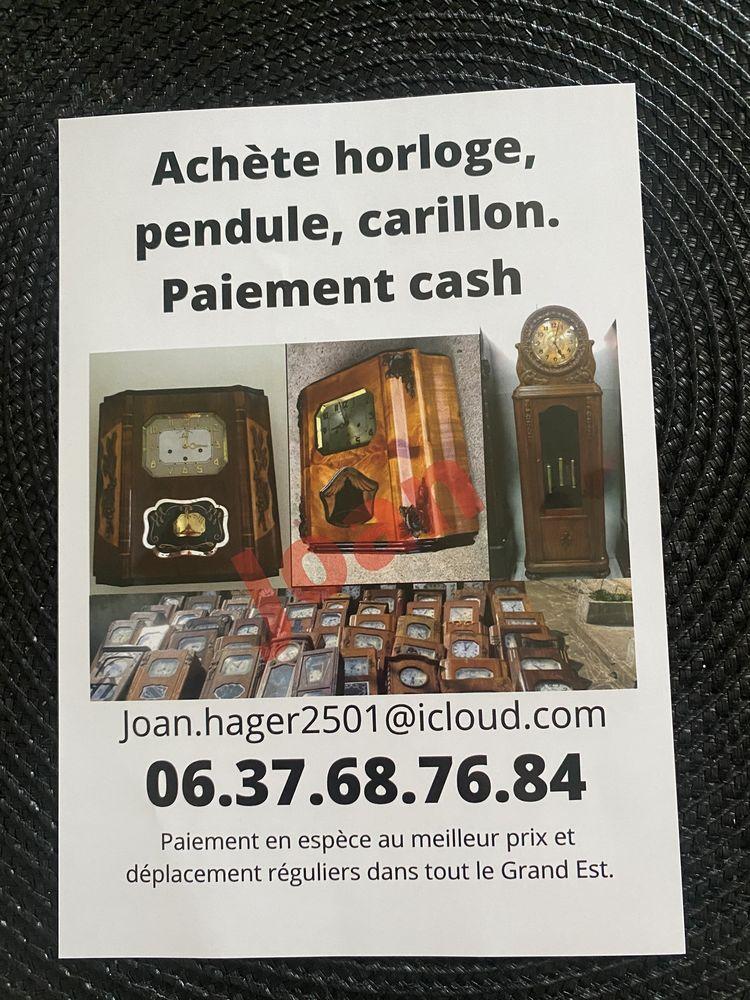 Rachète horloge Carillon est pendule 100 Metz (57)