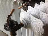 Radiateur fonte fleuri  75 Quimper (29)