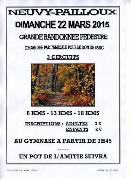 Randonnée pédestre 0 Neuvy-Pailloux (36)