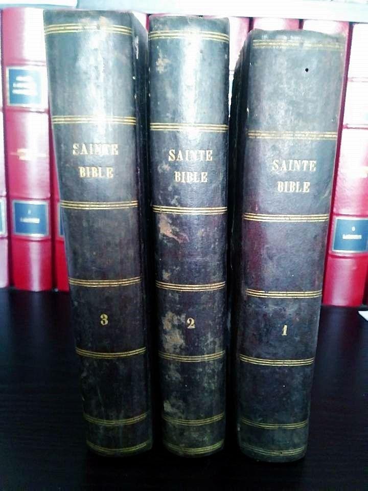 Rare Bible Carrières 1856 latin-français 50 Limoges (87)