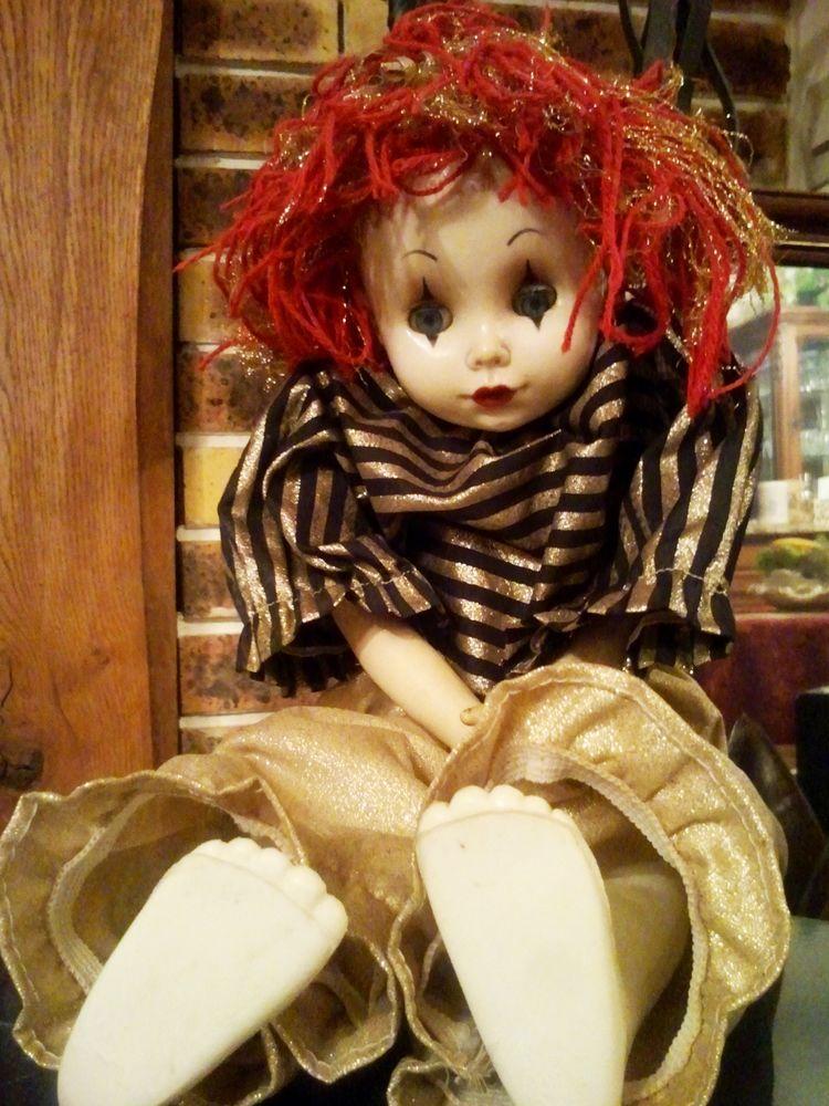 RARE Clown Poupée de Collection EFFE BAMBOL FRANCA