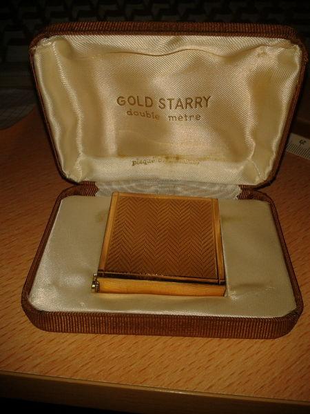 rare double mètre gold starry avec poinçon  100 Les Peintures (33)
