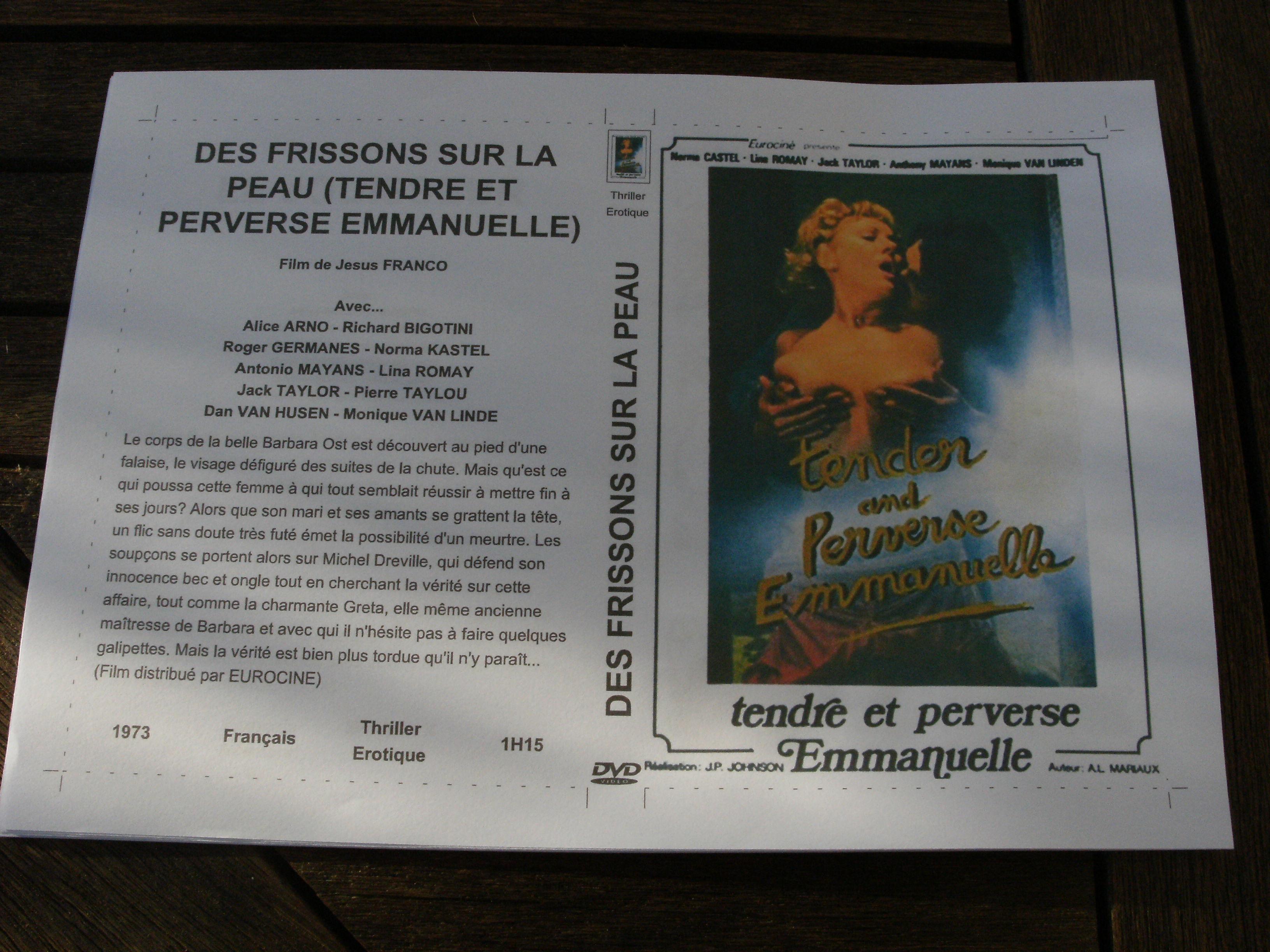 Rare film :   Des frissons sur la peau   55 Saint-Médard-en-Jalles (33)