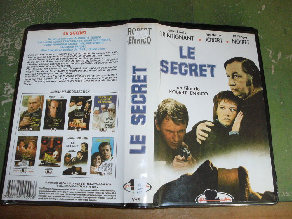 Rare film :   Le secret   20 Saint-Médard-en-Jalles (33)