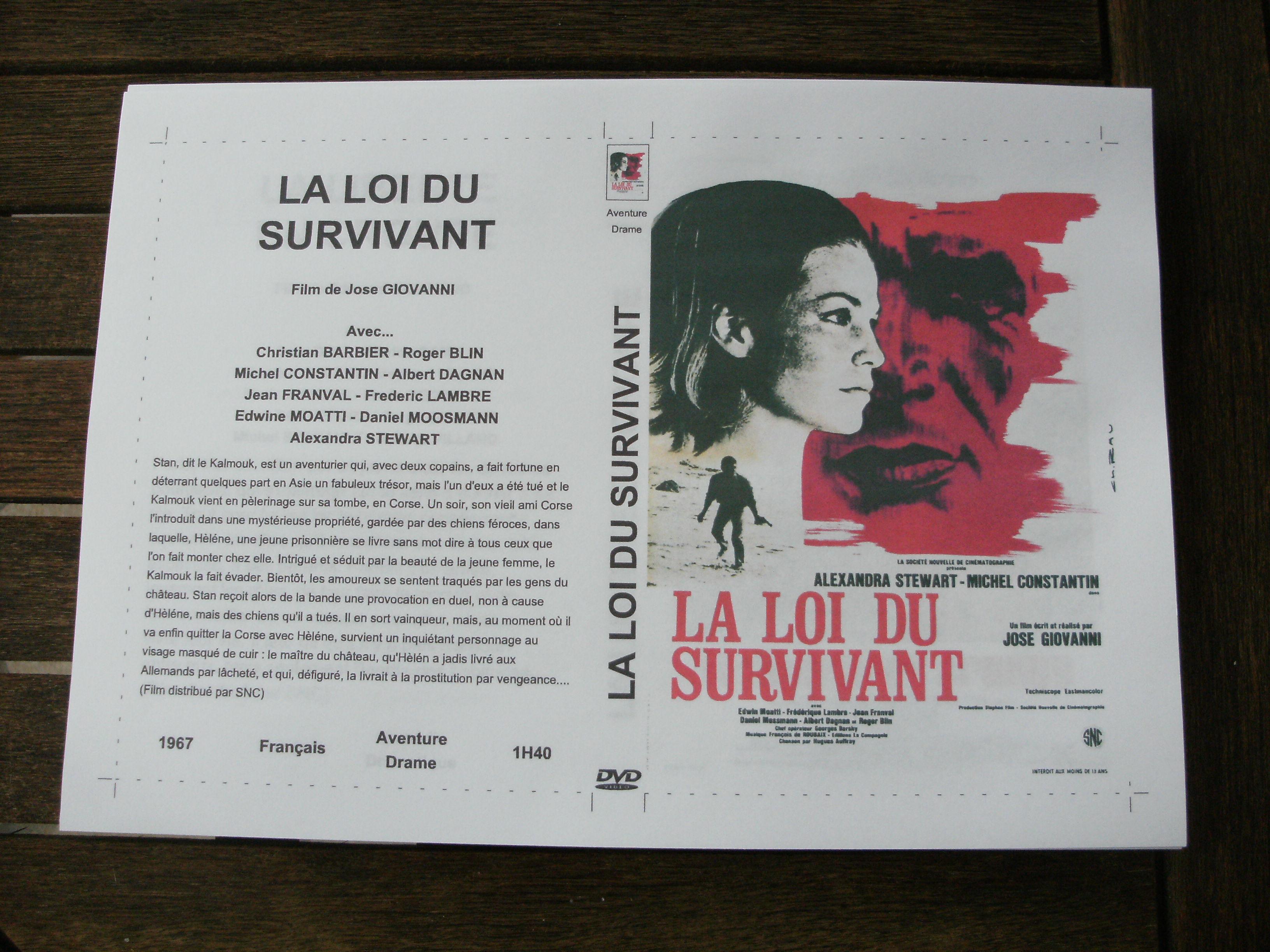 Rare film :   La loi du survivant   45 Saint-Médard-en-Jalles (33)