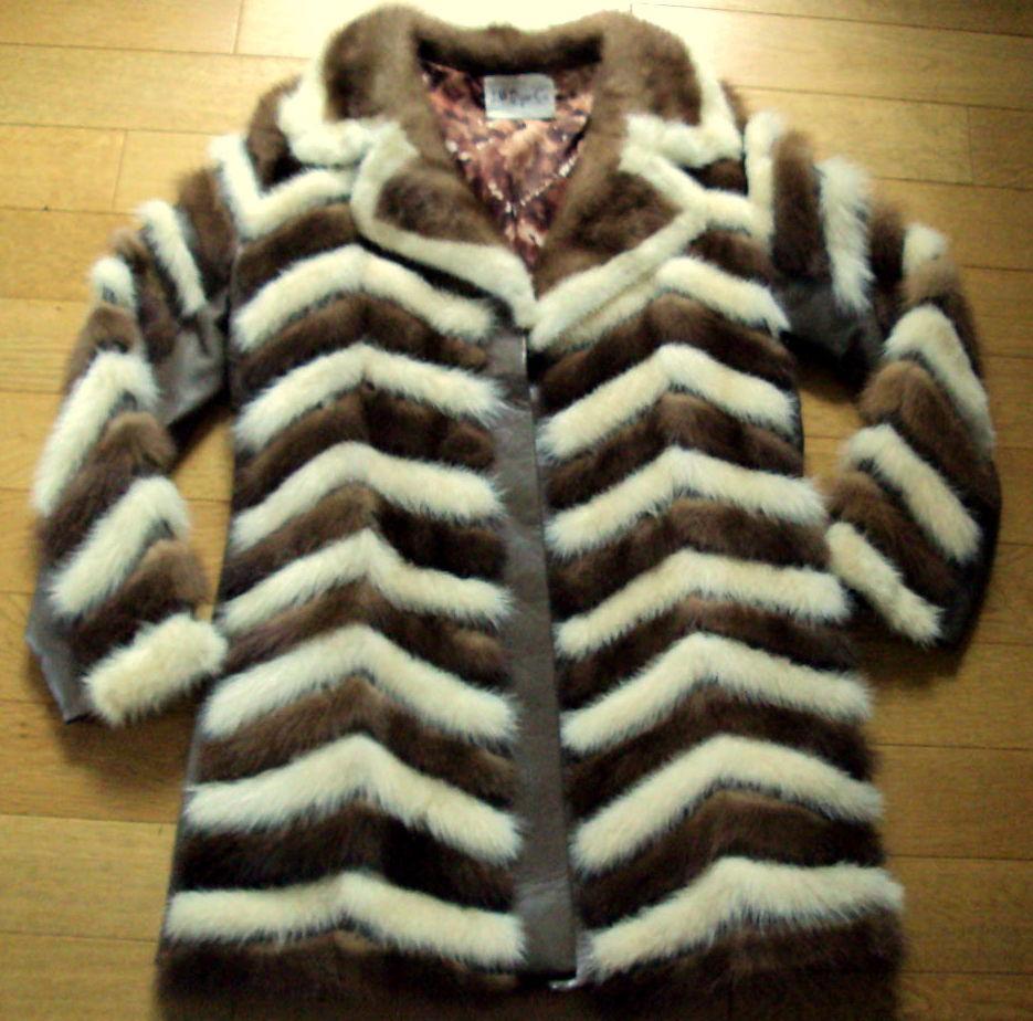 rare manteau vintage en vison marron et  beige  T40 199 Clermont-Ferrand (63)