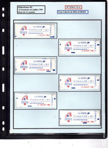 Rare : série COMPLETE de 11 Carnets 2376 C 12 A 42 La Seyne-sur-Mer (83)