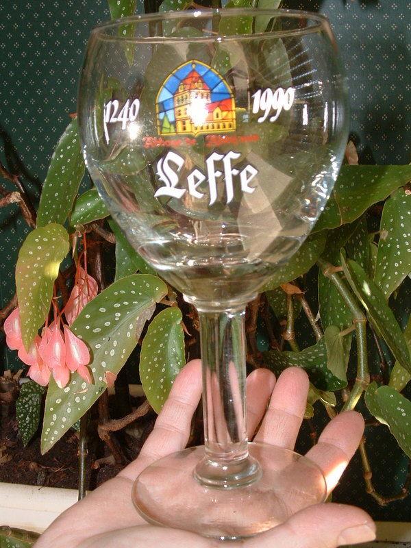 RARE verre LEFFE collector 1240-1990 20 Montcy-Notre-Dame (08)