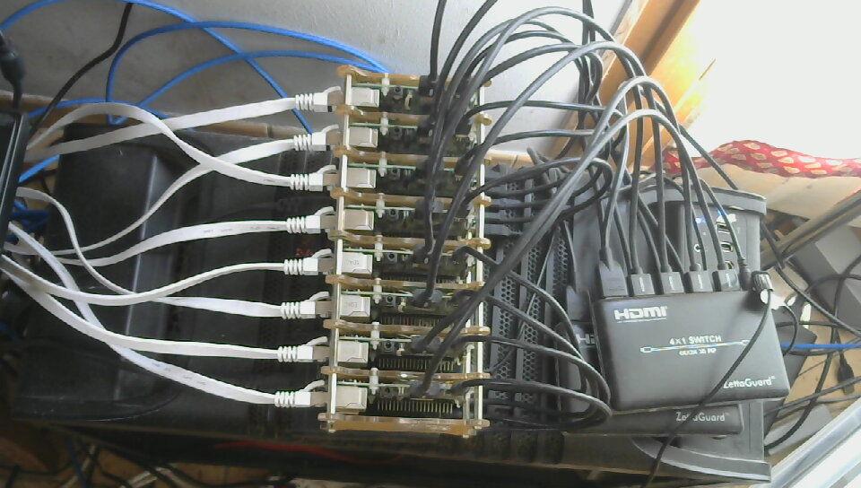 Raspberry2 cluster complet Matériel informatique