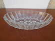 RAVIER ovale verre ciselé