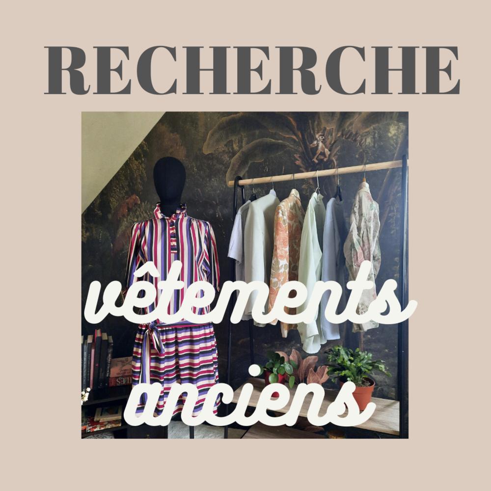 Recherche vêtements d'occasion vintage et anciens 0 Pleumartin (86)
