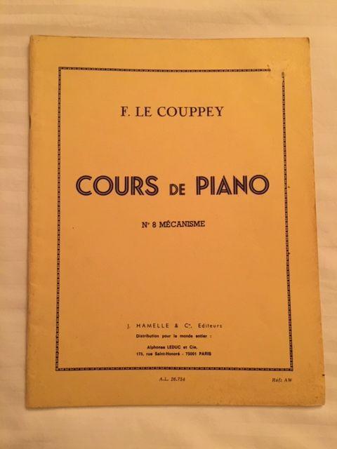 Recueil Cours de PIANO F. LE COUPPEY N°8 Mécanisme 7 Saulx-les-Chartreux (91)