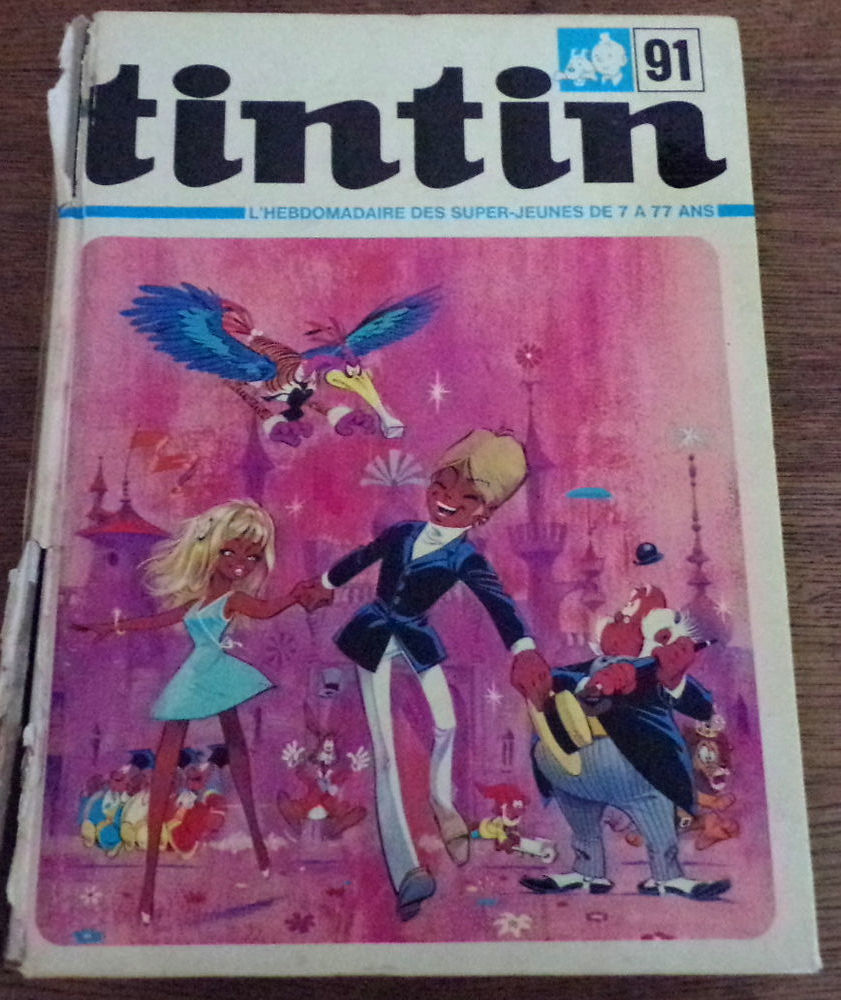 Recueil du journal Tintin n° 91 24 ème année hebdomadaire 35 35 Laval (53)
