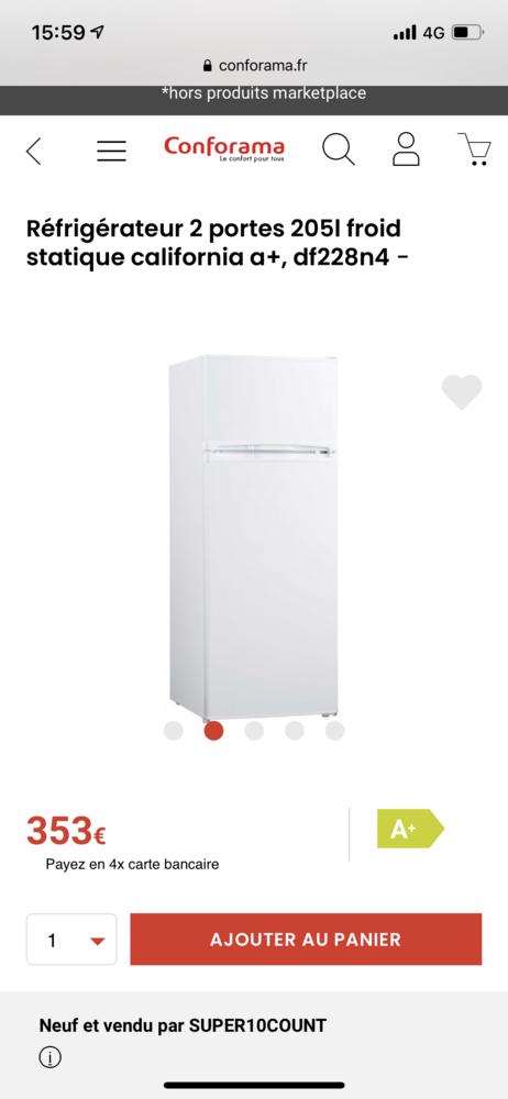 Réfrigérateur  130 Saint-Denis (93)