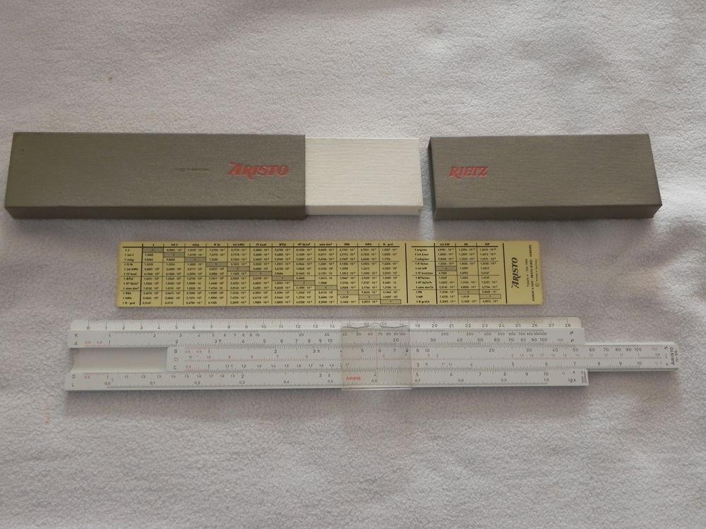 Règle à calculer ARISTO RIETZ  No 99 20 Suisse