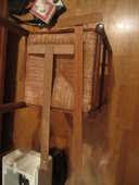 2 règles en T  bois 50 cm fixe : outil de traçage tableaux 7 Mérignies (59)