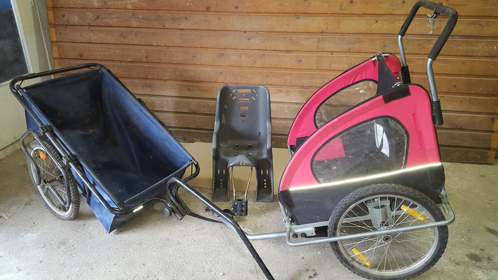 2 remorques de vélo et 1 siège d'enfant pour vélo 70 Saint-Leu-d'Esserent (60)