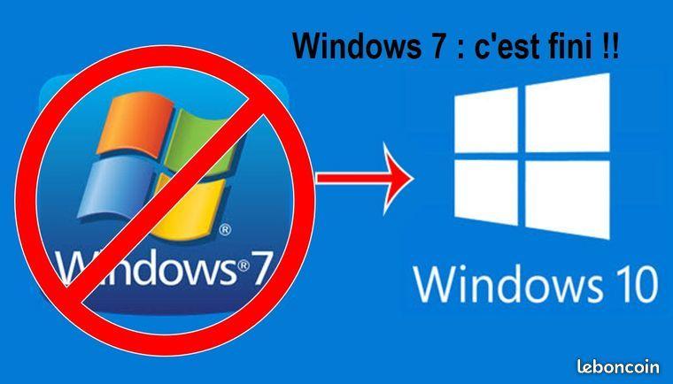 Remplacement de Windows 7 par Windows 10 24 Chelles (77)