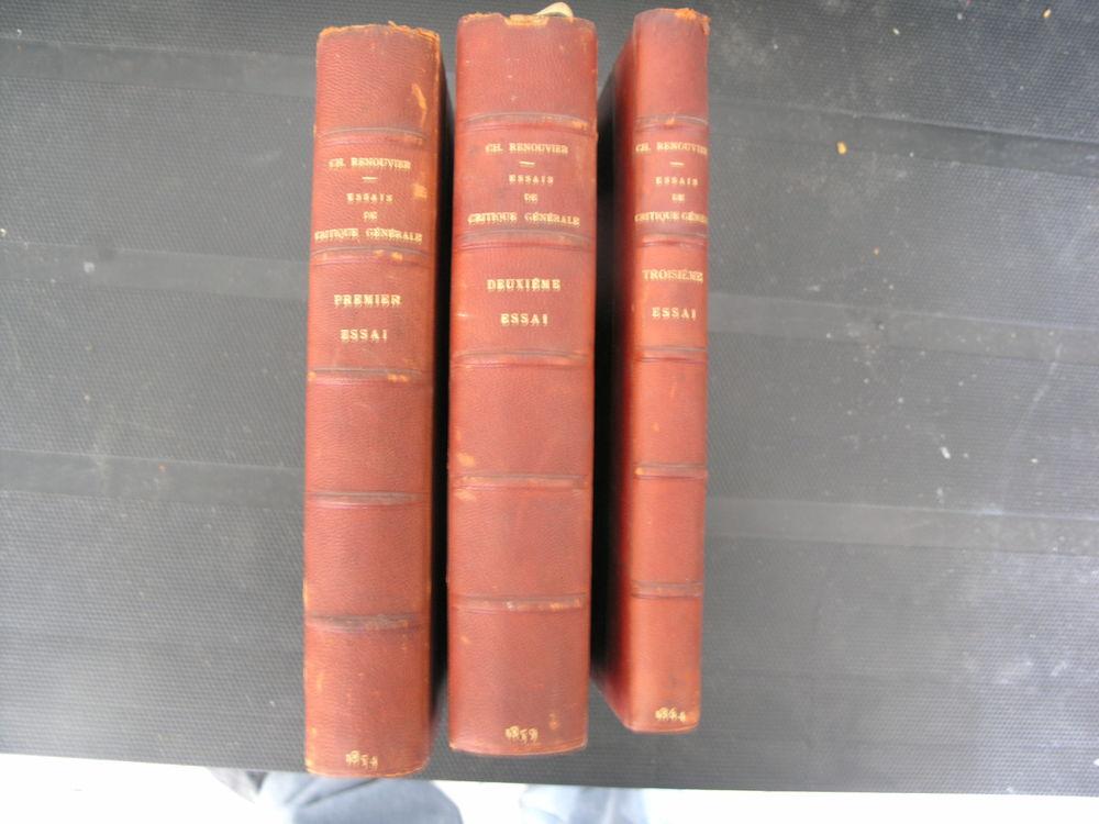 RENOUVIER, Ch.  Livres anciens #5 RARES !!! 160 Maule (78)