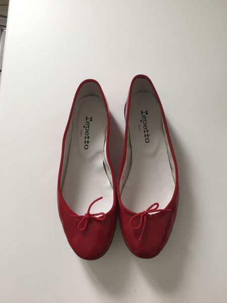Repetto rouge vernis T.37,5 Chaussures