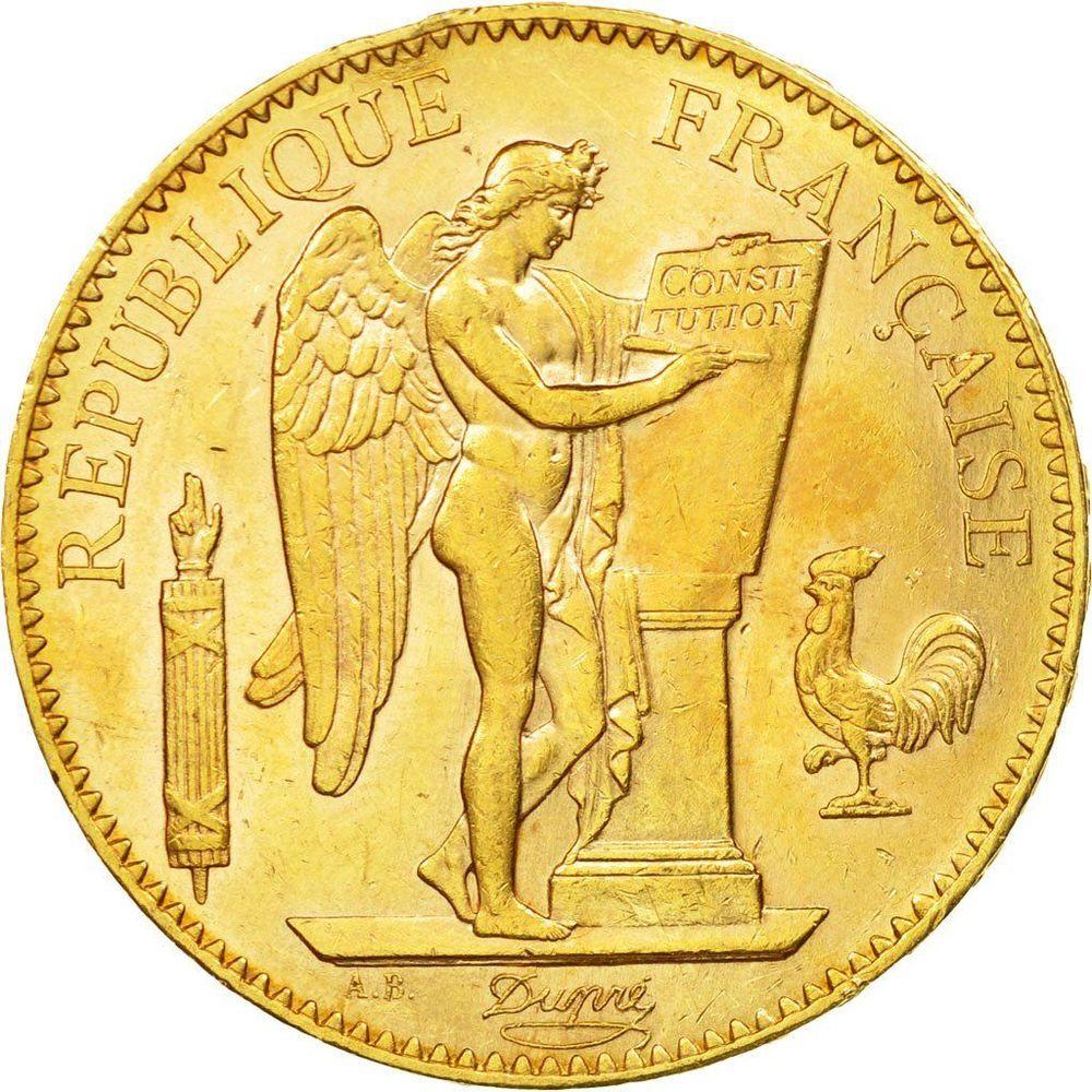 RÉPLIQUE PLAQUE OR 100 FRANCS 1909 GÉNIE  0 Hautmont (59)