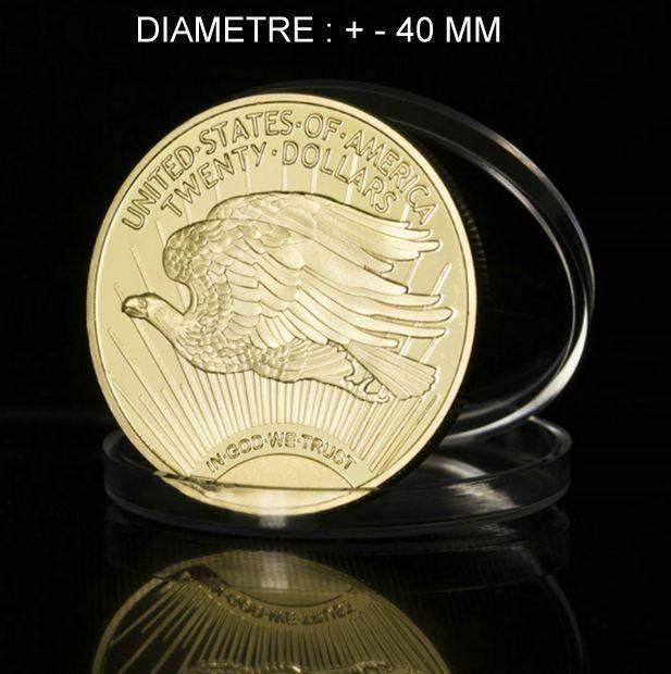 RÉPLIQUE PLAQUÉ OR TWENTY DOLLARS DOUBLE AIGLE   10 Hautmont (59)