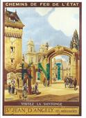 ,C P M reproduction d'affiche chemin de fer de l'état st  5 Tours (37)