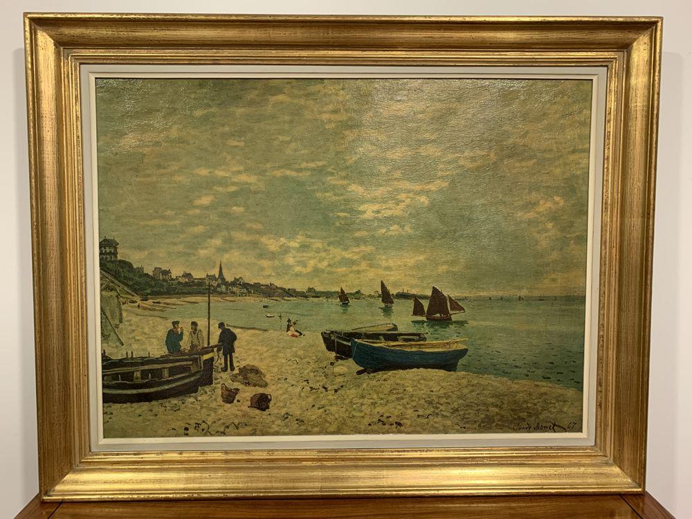 Reproduction Claude Monet ? Tableau   La plage de Sainte Adr 250 Rennes (35)