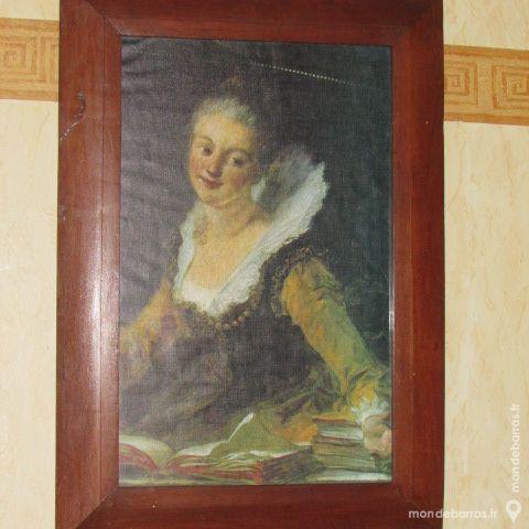 Reproduction de « l'étude» de Fragonard Décoration