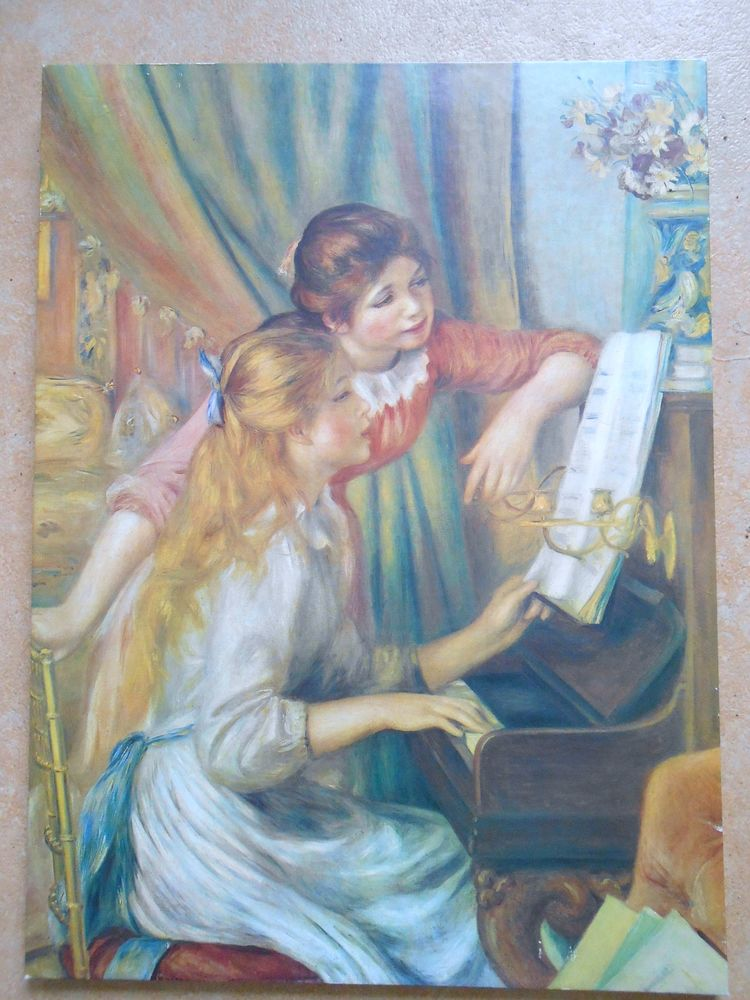 Reproduction  les jeunes filles au piano   15 Digoin (71)