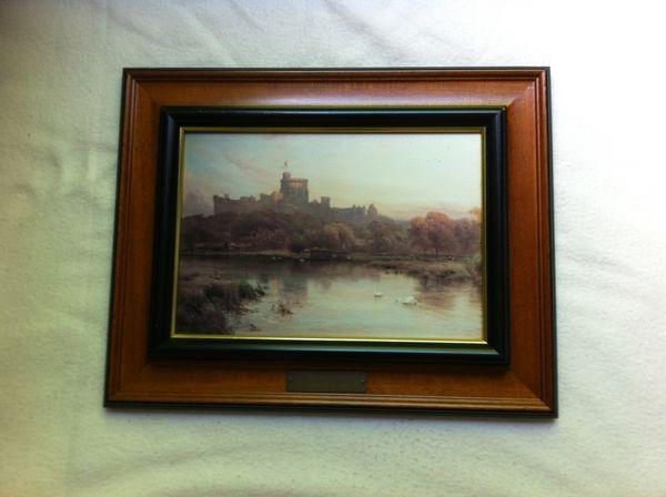 Reproduction tableau Alfred de Breanski, Windsor Castle  70 Annecy (74)