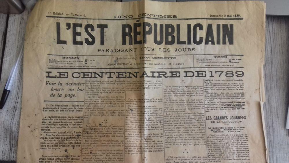 L'Est Républicain 5 mai 1889 n°1 100 Besançon (25)
