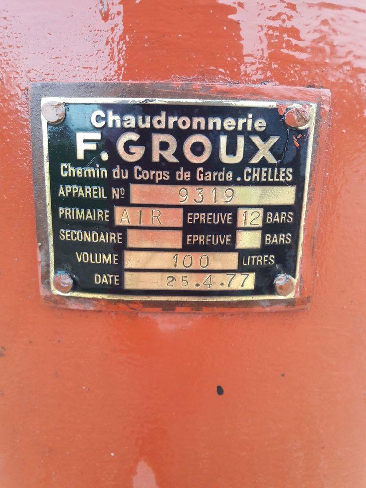 Réservoir tampon à air comprimé   200 Fouchères (89)