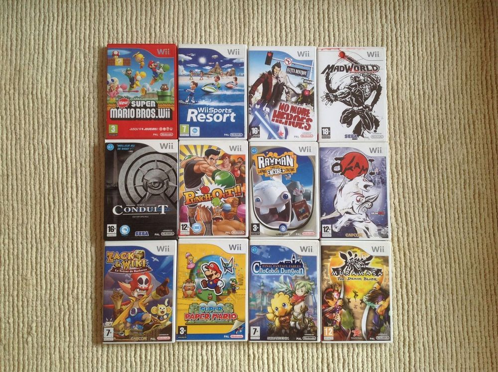 RETROGAMING - LOT 7 COLLECTION WII 100 Paris 11 (75)
