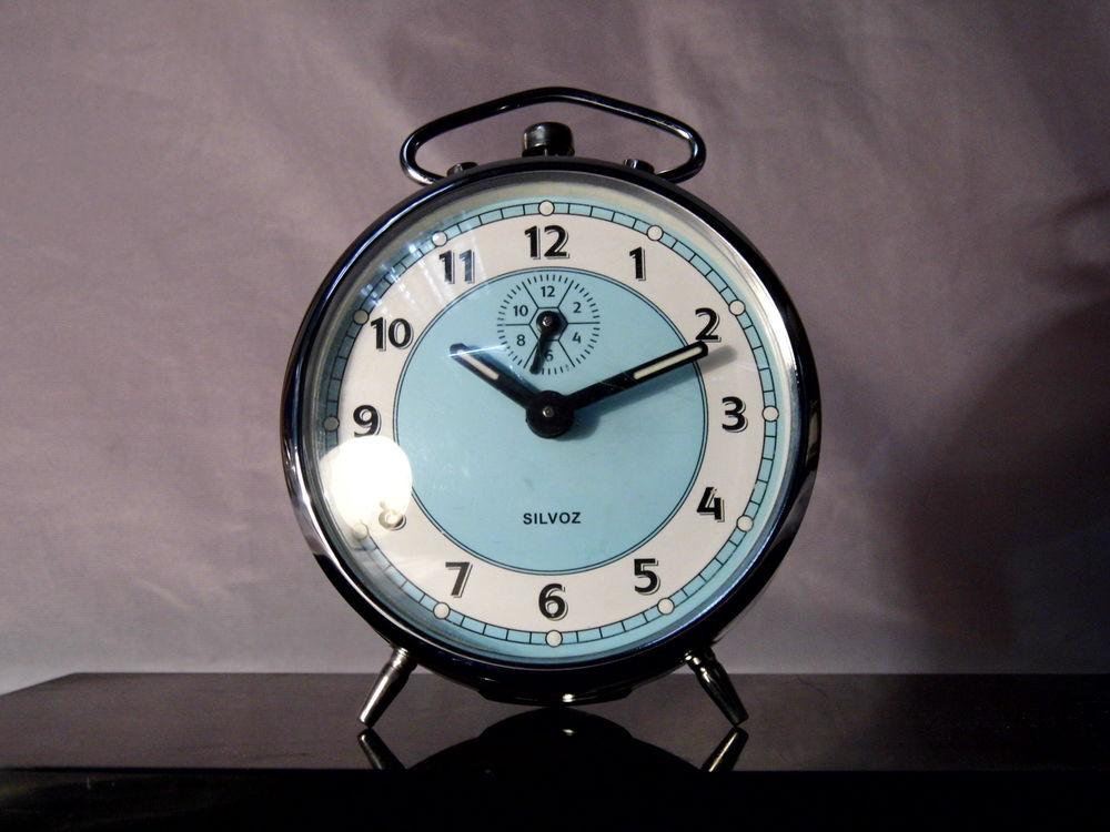 Réveil mécanique vintage SILVOZ pendule horloge 20 Dunkerque (59)
