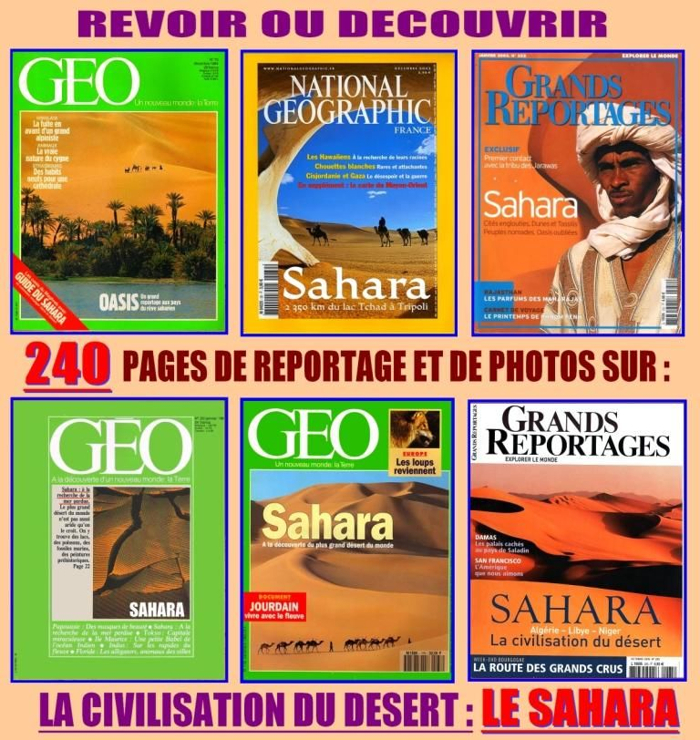 revoir ou découvrir : LE DÉSERT DU SAHARA  18 Lille (59)