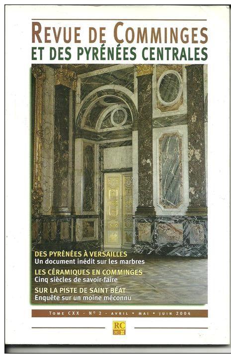 Revue de Comminges tome CXX N° 2 - Avril, mai et juin 2004 - 6 Montauban (82)