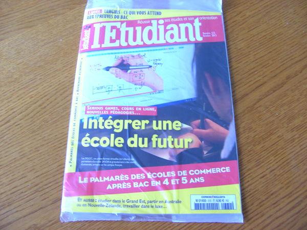 Revue L'étudiant N° 372 - Octobre 2013 3 Ardoix (07)