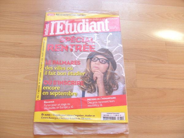 Revue L'étudiant N° 371 - Septembre 2013 3 Ardoix (07)