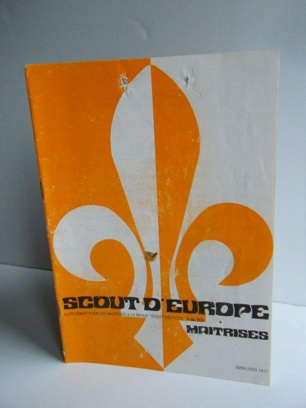 REVUE MAITRISES N°60ter SCOUTS D'EUROPE année 1983 3 La Celle-sur-Morin (77)
