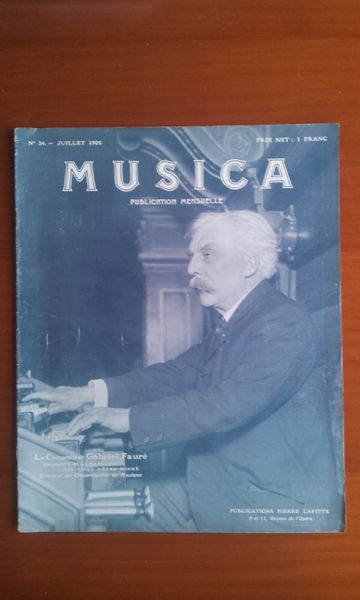 Revue Musica 34. Juillet 1905 Livres et BD
