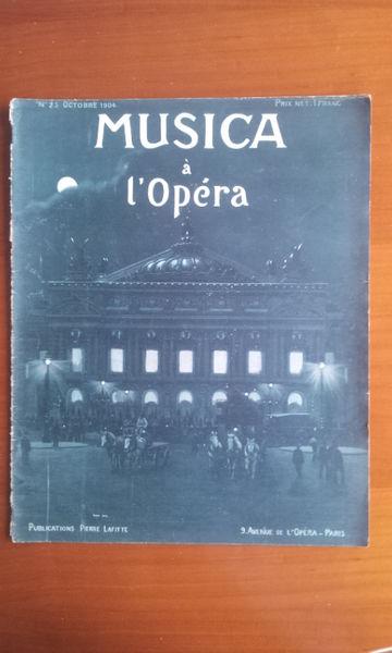 Revue Musica 25. Octobre 1904 Livres et BD