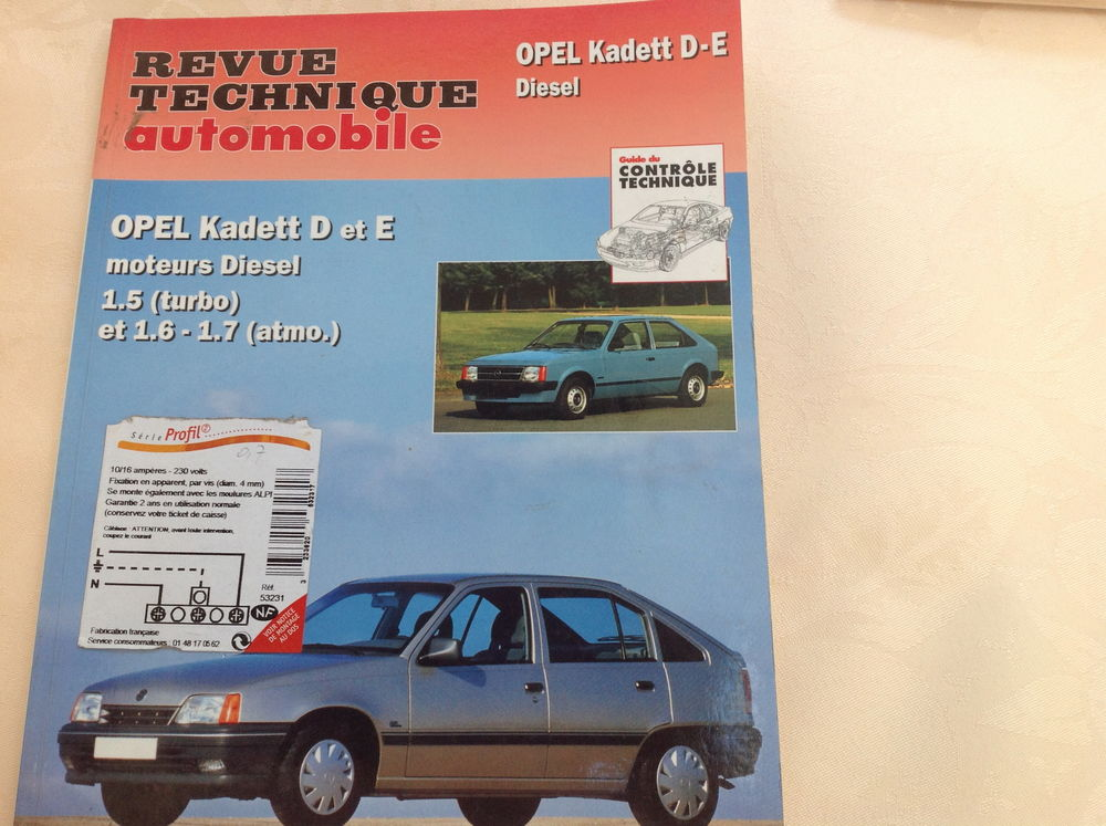 Revue technique automobile Opel Kadett 10 Thélus (62)