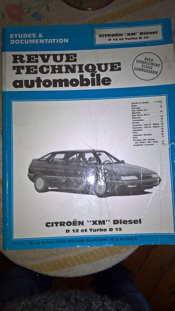 Revue technique XM diesel D12 et turbo D12  13 Saint-Pierre-d'Autils (27)