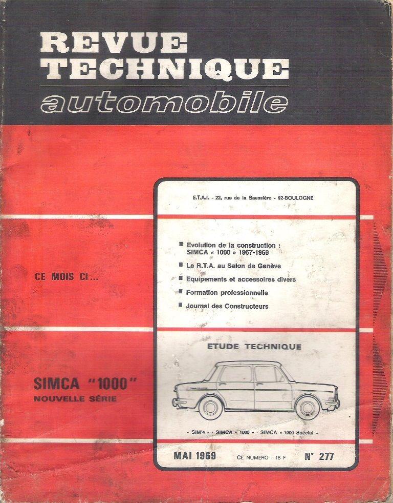 Revue Technique Simca 1000 nouvelle série 10 Balma (31)