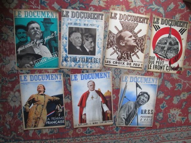 Lot de 7 Revues anciennes le Document (années 30) 50 Herblay (95)