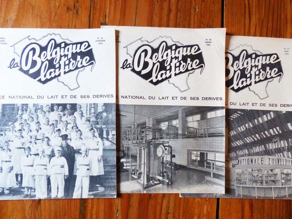 """Lot de 3 revues """"La Belgique laitière"""" 1954 Livres et BD"""