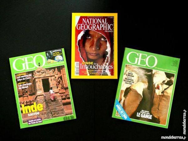 3 revues sur L'INDE et le GANGE Livres et BD
