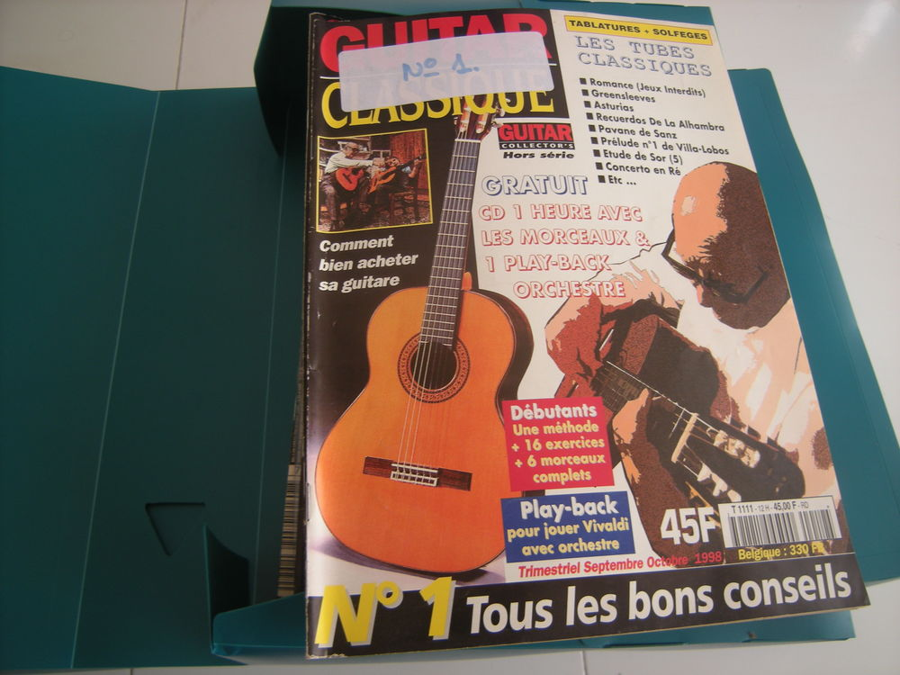 29 revues livre partitions avec cd guitare classique  90 Thiais (94)